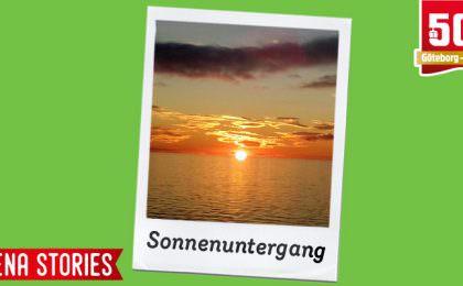 Stena Stories - Sonnenuntergang von der Stena Germanica aus