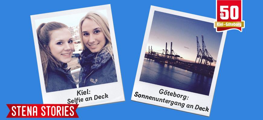 Stena Line - Selfies an Bord und Sonnenuntergang in Göteborg